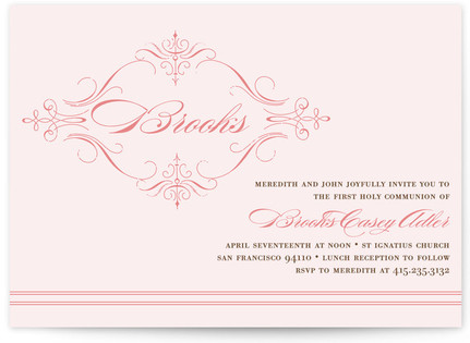 French Vintage First Holy Communion Invitations