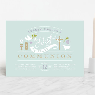 Icons of Faith First Communion Invitations