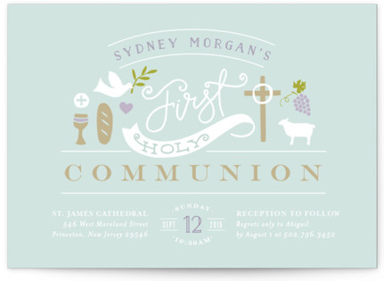 Icons of Faith First Holy Communion Invitations
