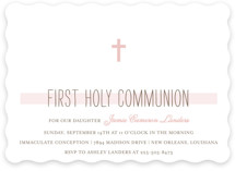 Simple Communion First Communion Invitations