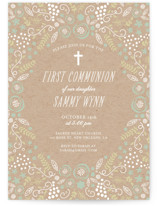 Communion Floral First Communion Invitations