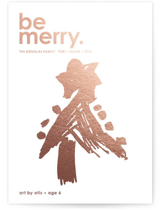 Cherry Merry Completely Custom Your Drawing As Foil Card