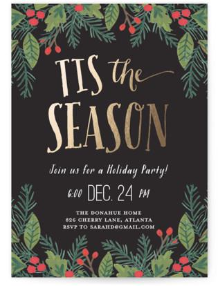 Tis the Season Foil-pressed Party Invitation