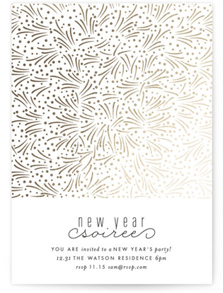 Fireworks Foil-pressed Party Invitation