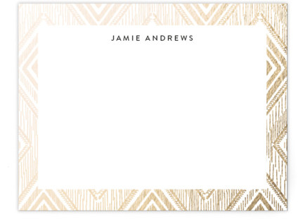 Gilded Ikat Foil-Pressed Personalized Stationery