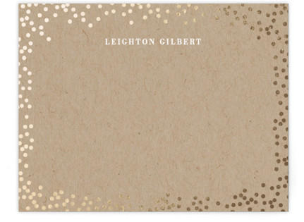 Starlight Foil-Pressed Personalized Stationery