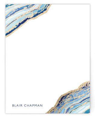 Gilt Agate Foil-Pressed Personalized Stationery