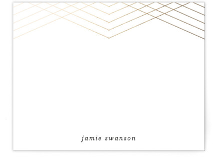 Galette Foil-Pressed Personalized Stationery
