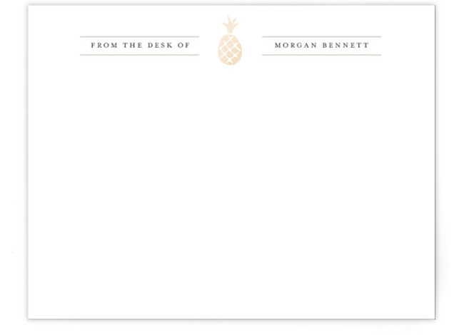 Pineapple Please Foil-Pressed Personalized Stationery