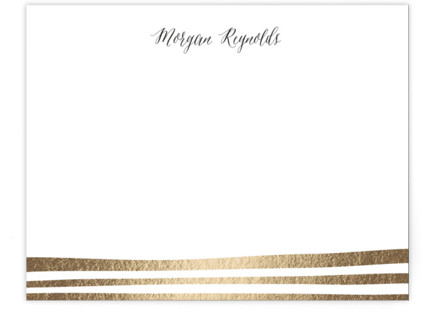 Striped Foil-Pressed Personalized Stationery