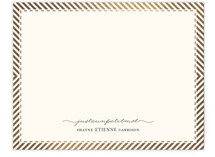Paris From Stripes To Chevrons Foil-Stamped Stationery