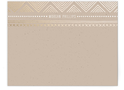 Indio Foil-Pressed Personalized Stationery