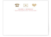 Icons Foil-Stamped Stationery
