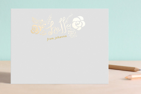 Hello Yellow Foil-Stamped Stationery