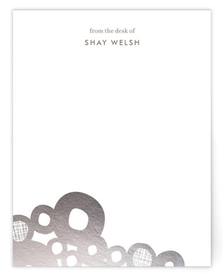 Boulders Foil-Pressed Personalized Stationery