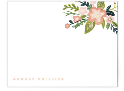 Audrey Foil-Pressed Personalized Stationery