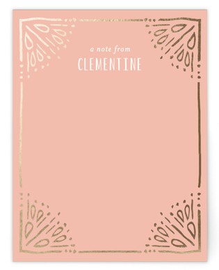 Painted Border Foil-Pressed Personalized Stationery