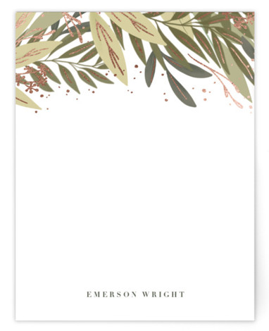 Wild Garden Foil-Pressed Personalized Stationery