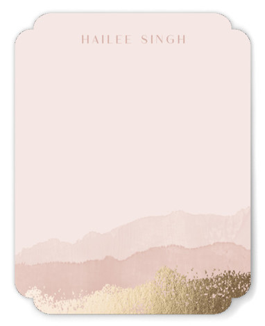 Painted Desert Foil-Pressed Personalized Stationery