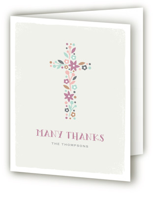 Wildflower Cross First Holy Communion Thank You Cards
