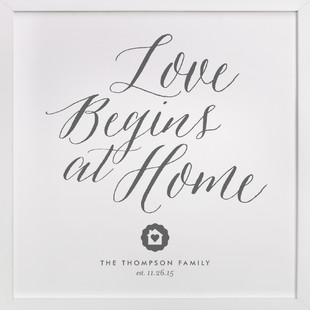 Love Starts Here Custom Art Print