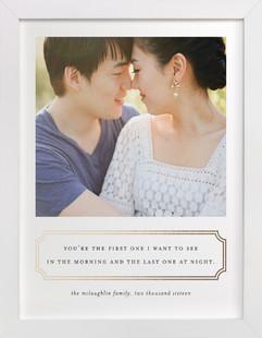 First Love Foil Pressed Photo Art Print
