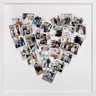 Heart Snapshot Mix Foil Pressed Photo Art Print