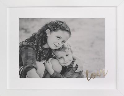 Love Foil Foil Pressed Photo Art Print