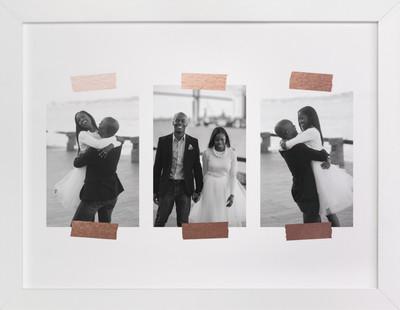 Golden Memories Foil Pressed Photo Art Print