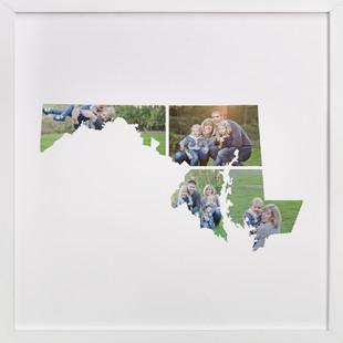Maryland Love Location Custom Photo Art Print
