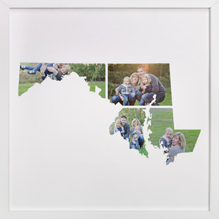 Maryland Love Location Custom Photo Art Print
