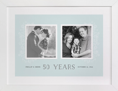 50 Years Custom Photo Art Print