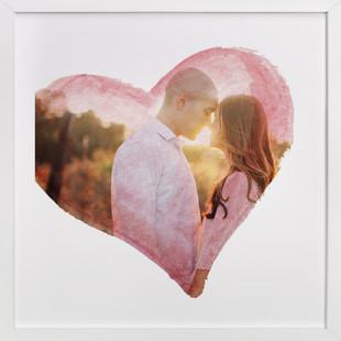 Watercolor Heart Custom Photo Art Print