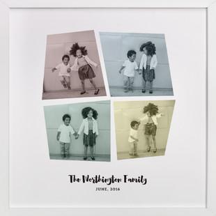 Colorful Family Custom Photo Art Print