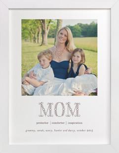 Flower Mom Custom Photo Art Print