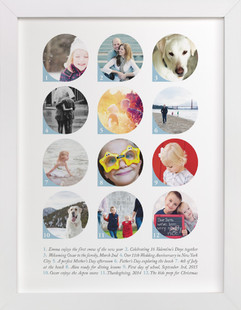 An Index of Moments Custom Photo Art Print