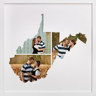 West Virginia Love Location Custom Photo Art Print