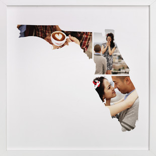 Florida Love Location Custom Photo Art Print