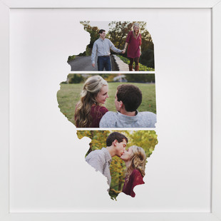 Illinois Love Location Custom Photo Art Print