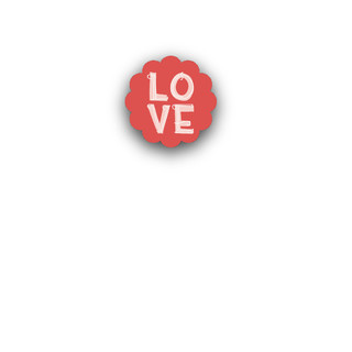 Handmade Love Small Stickers