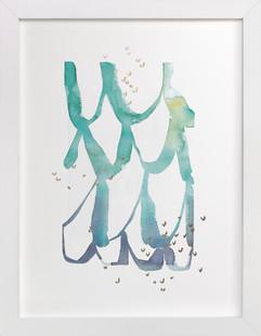 Cascade Foil-Pressed Art Print