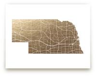 Nebraska Map by GeekInk Design