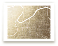 Kansas City Map by Griffinbell Paper Co.