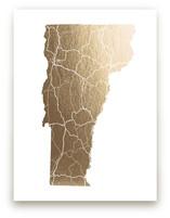 Vermont Map by GeekInk Design