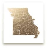 Missouri Map by GeekInk Design