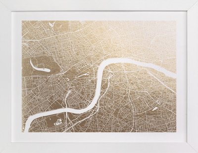 London Map Foil-Pressed Art Print