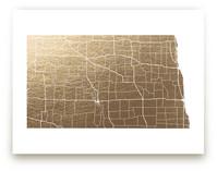 North Dakota Map by GeekInk Design