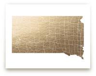 South Dakota Map by GeekInk Design