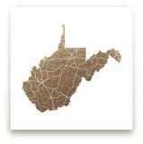 West Virginia Map by GeekInk Design