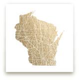 Wisconsin Map by GeekInk Design
